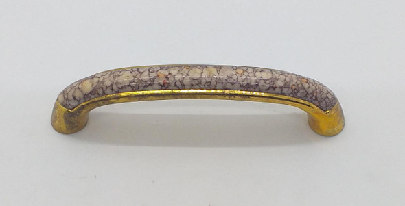 DRAW HANDLE CURVE GOLD WITH MARBLE TOP #28