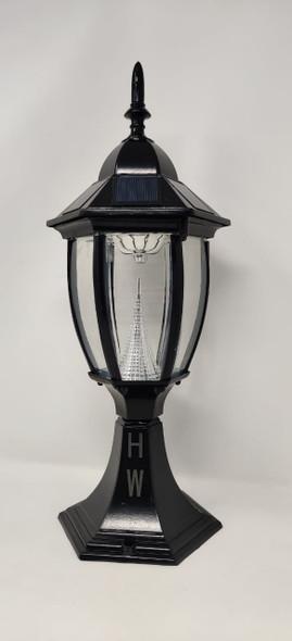 LIGHT LED POST SOLAR BLACK POINT TOP FIXTURE HW