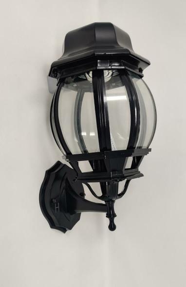 LIGHT LED WALL SOLAR BLACK FLAT TOP FIXTURE