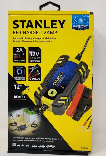 BATTERY CHARGER STANLEY BC209W RE-CHARGEiT 2AMP 12V