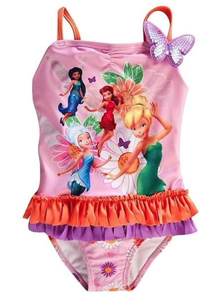 Kids Disney Girls Swimwear Tinkerbell size7/8