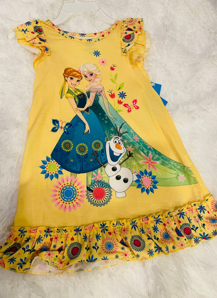 Kids Disney Sleepshirt Girls Flutter sleeve