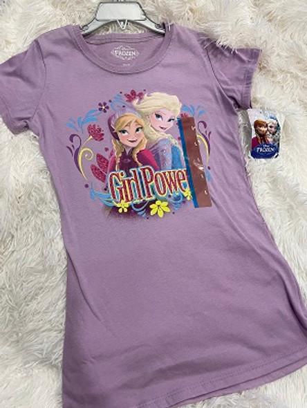 Kids Tshirt Disney Girls Frozen purple