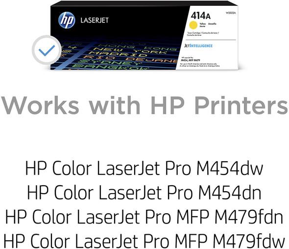 COMPUTER PRINTER TONER HP 414A YELLOW W2020A