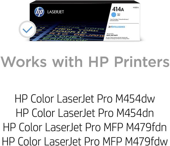 COMPUTER PRINTER TONER HP 414A CYAN W2020A