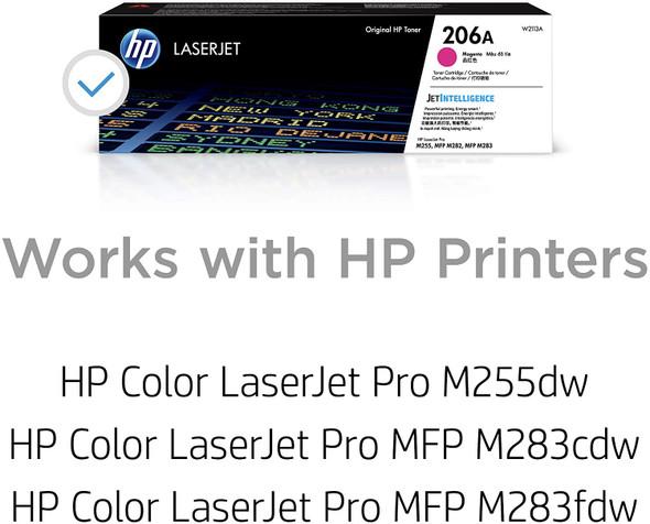 COMPUTER PRINTER TONER HP 206A MAGENTA W2110A