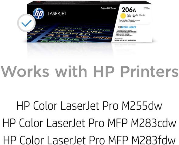 COMPUTER PRINTER TONER HP 206A YELLOW W2110A