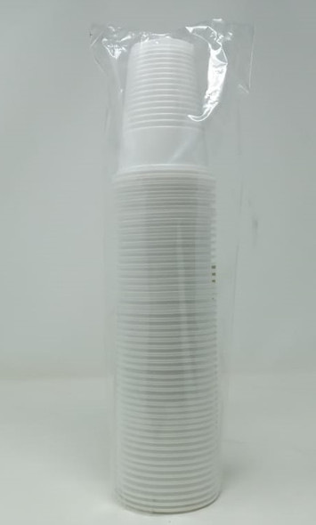 PARTY CUPS 7oz 200ML 50PCS PACK WHITE PLASTIC STRONG