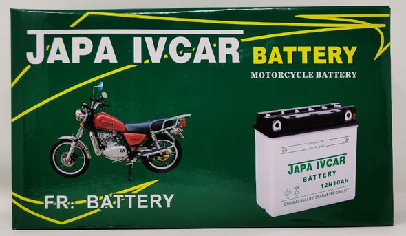 M/CYCLE BATTERY JAPA IVCAR 12N10AH 12V 10A