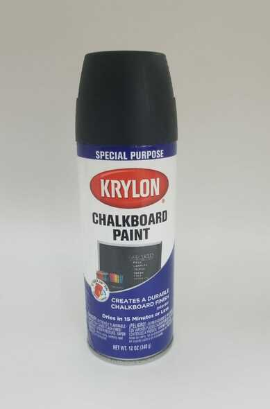 KRYLON CHALKBOARD PAINT BLACK 807 12OZ