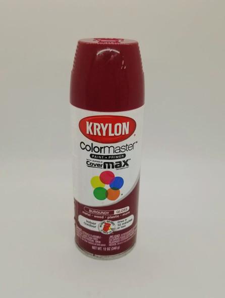 KRYLON COLORMASTER GLOSS BURGUNDY 52118 12OZ