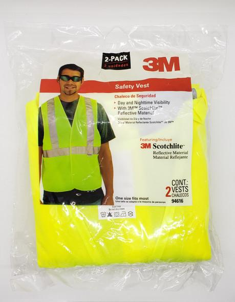 SAFETY VEST 3M 2PCS 94621/94616 SCOTCHLITE
