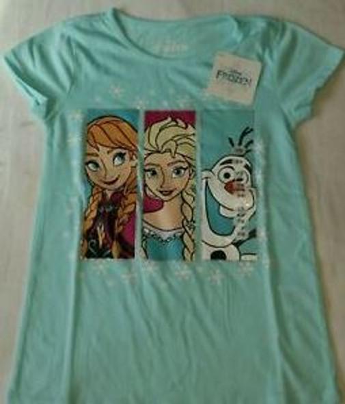 Kids Disney Girls TShirt Frozen blue