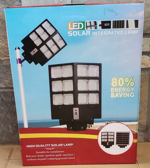 SOLAR LIGHT 100W LED STREET WITH PANEL INTEGRATED LAMP WITH POLE & REMOTE