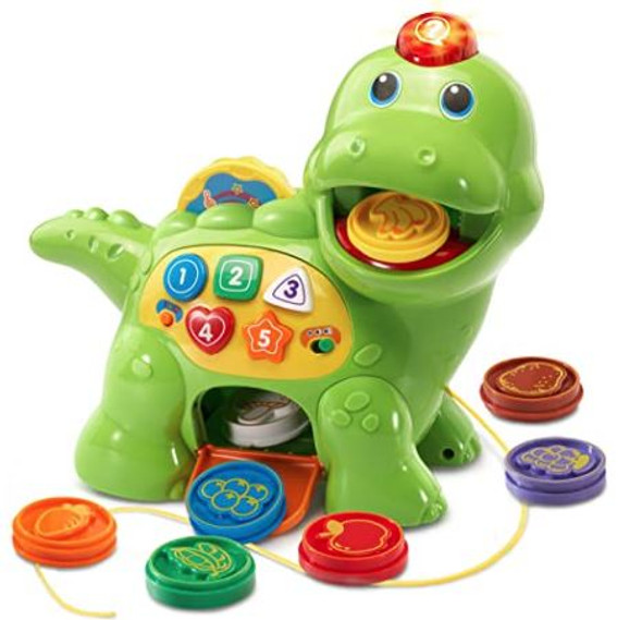 Toy VTech Chomp and Count Dino Green
