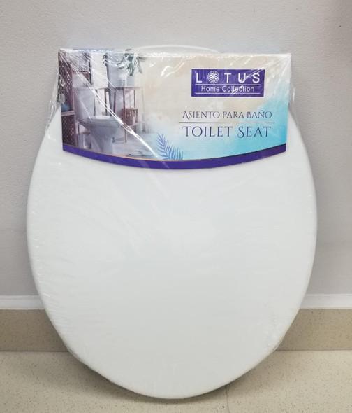 TOILET SEAT PLASTIC LOTUS WHITE 90596