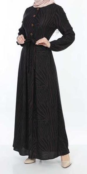 Dress Zebra print  Black & purple
