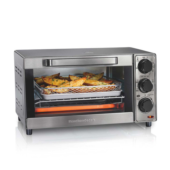 TOASTER OVEN HAMILTON BEACH 31403 WITH AIR FRYER STAINLESS STEEL