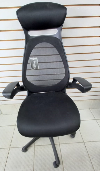 CHAIR OFFICE BLACK WITH HEAD & ARM REST SOHO 972556