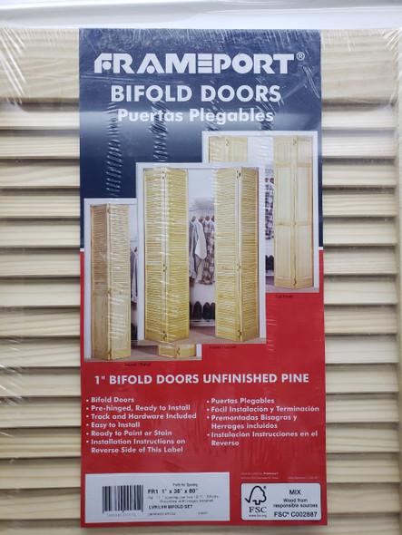 """DOOR CLOSET 36"""" X 80"""" BIFOLD LOUVRE PINE"""
