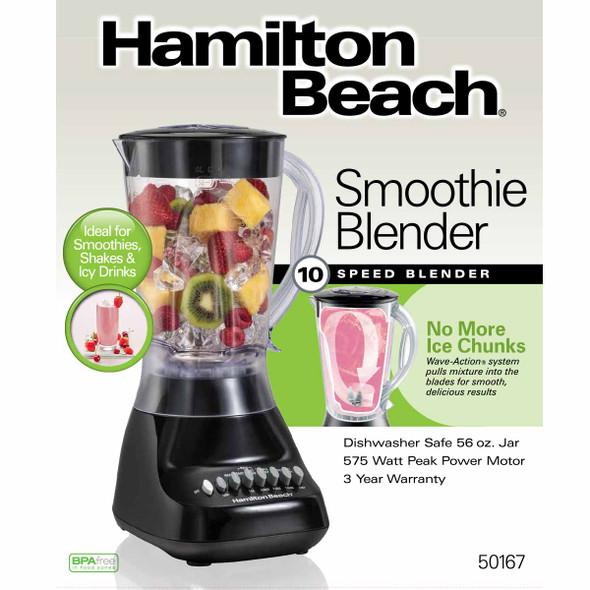 BLENDER HAMILTON BEACH 10SP 50167 PLASTIC 110V