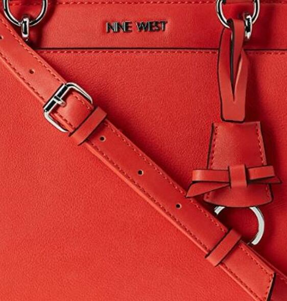 Bag Nine West Lillie Dome Satchel Red