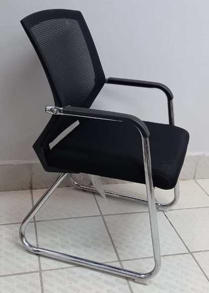 CHAIR WAITING WITH ARM BLACK BACK S1129BK