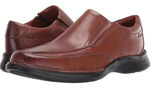 Footwear Clarks Men's Kempton Free Loafer Brown Leather