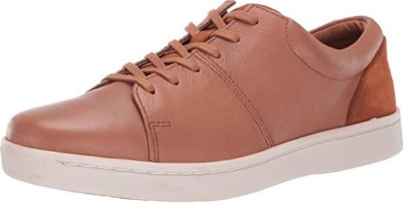 Footwear Clarks Men's Kitna Vibe Sneaker Tan Leather