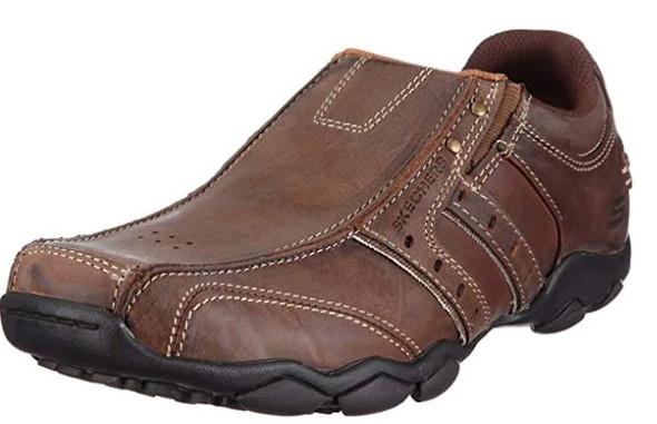 Footwear Skechers Men's Slip on Shoe Diameter Bike Toe Run Off Brown