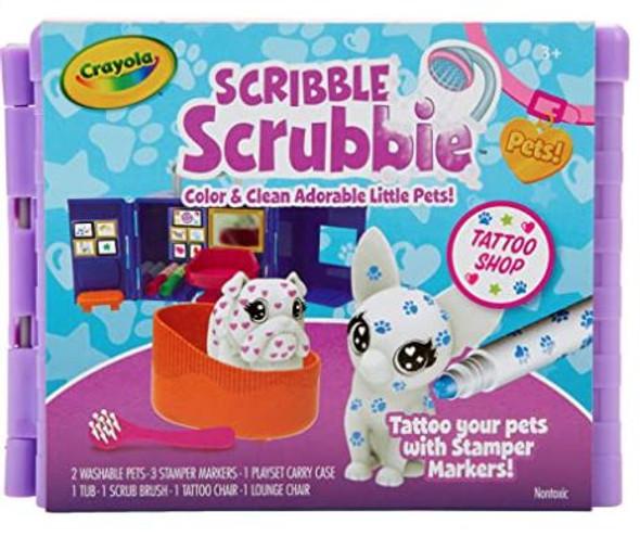 Toy Crayola Scribble Scrubbie Pets Tattoo Shop Playset