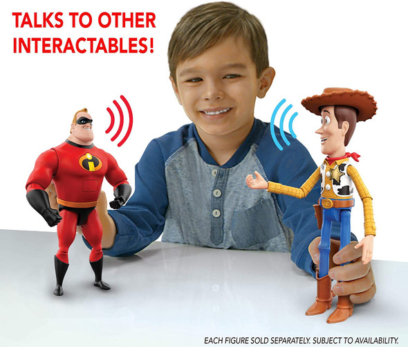 Toy Pixar Ultimate Talker Woody Toy Story Interactables Talking Action Figure Sheriff  9.2 inches