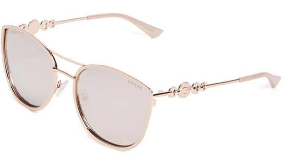 Sunglasses GUESS Women GF6053  Rose Gold/Blush Pink Mirror lens