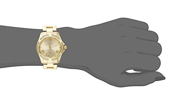 Watch Invicta Women's Angel 34.5mm Gold Tone Stainless Steel Crystal Accented Quartz 21384
