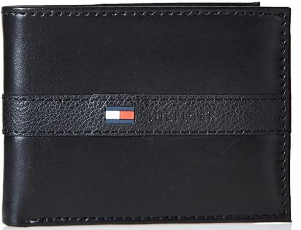 Wallet Tommy Hilfiger Men's Leather Slim Bifold Black
