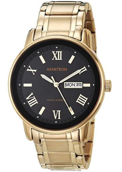 Watch Armitron Men's Gold Bracelet 4935 Day/Date