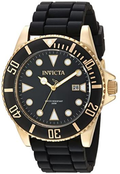 Watch Invicta Men's Pro Diver 44mm Black Stainless Steel and Silicone 90303