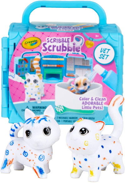 Toy Crayola Scribble Scrubbie Pets Vet Playset