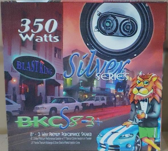 "SPEAKER CAR BLASTKING I-BKCS8-3+ 8"" 3 WAY 350W SILVER SERIES"