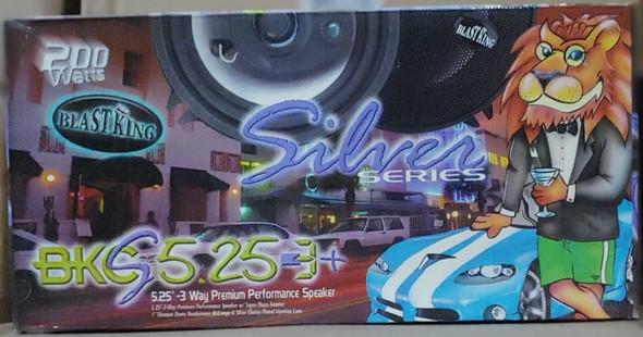 SPEAKER CAR BLASTKING I-BKCS5.25-3+ 3 WAY 200W SILVER SERIES