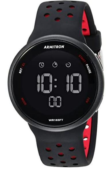 Watch Armitron Sport Unisex Digital Chronograph Silicone Strap 8423BRD