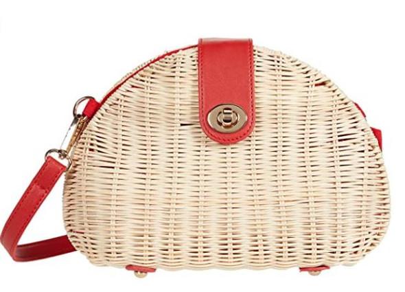 Bag Nanette Lepore Wicker Dome Crossbody