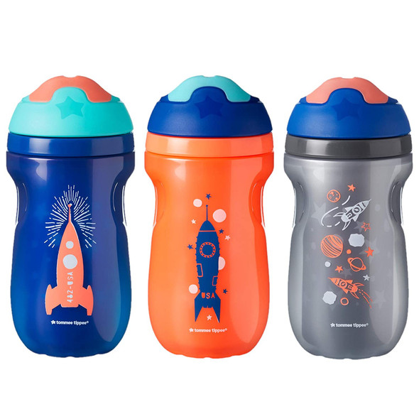 Baby Bottle Tommee Tippee Non-Spill Insulated Sippee Toddler Tumbler Cup 12+months  9oz 3 pack