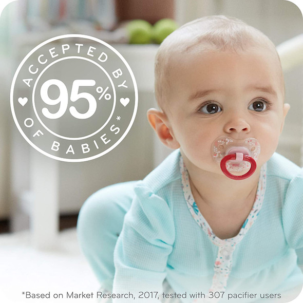 Baby NUK Orthodontic Pacifiers, 0-6 Months, 5-Pack
