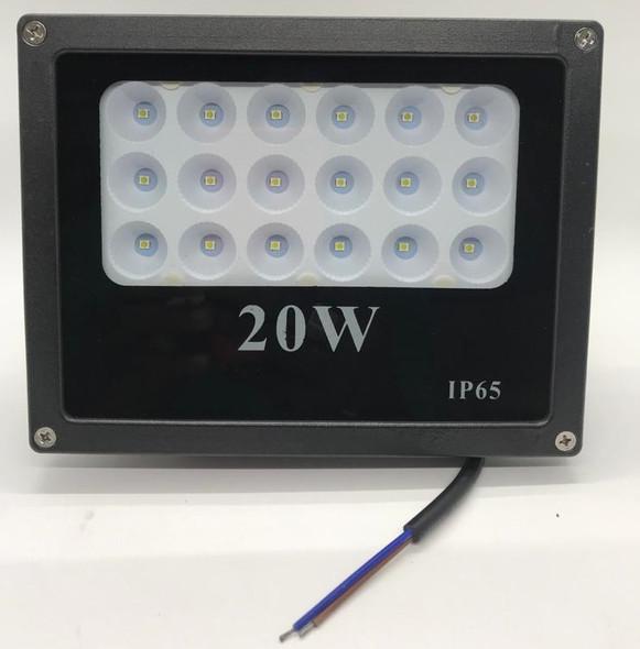 LAMP LED FLOOD 24V 20W IP65 W OUTDOOR LIGHT M:18.5X4.3X17CM