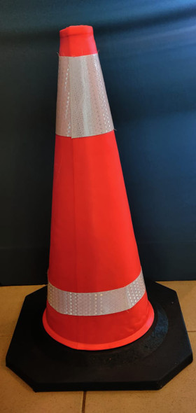 """TRAFFIC CONE PVC 30"""" 75CM WITH REFLECTIVE TAPE"""