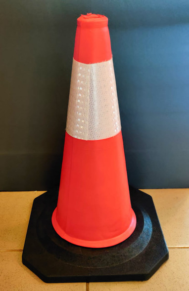 """TRAFFIC CONE PVC 20"""" 50CM  WITH REFLECTIVE TAPE"""