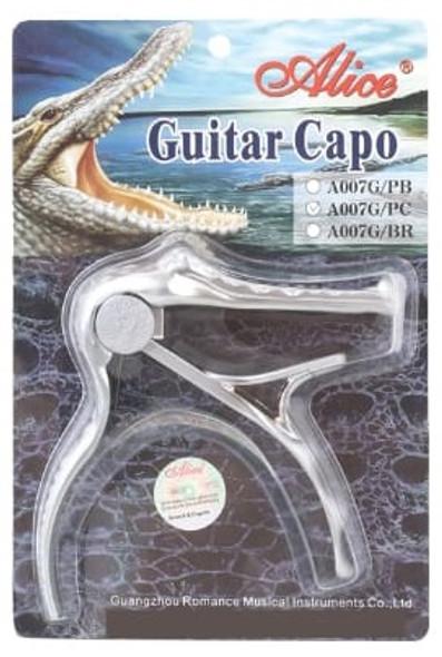 GUITAR CAPO A007G/PC SILVER ALLOY ACOUSTIC
