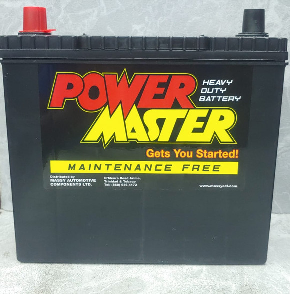 BATTERY POWERMASTER 12 PL. NS60RSMF 570AMPS RIGHT HAND