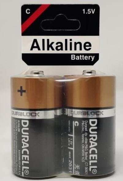 BATTERY DURACELL SIZE C ALKALINE 2PCS PACK
